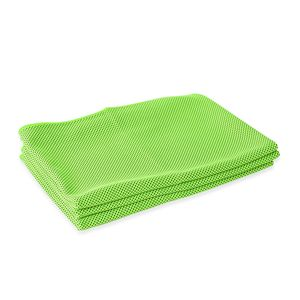ICE TOWEL- Set of 3 Lime Green 80% Polyester and 20% Nylon Reusable Environment Friendly and Energy-Efficient (90x30 cm)