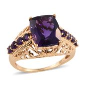 Lusaka Amethyst Vermeil YG Over Sterling Silver Ring (Size 6.0) TGW 4.87 cts.
