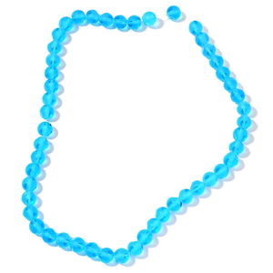 Gem Workshop Blue Glass Beads Strand TGW 517.00 cts.