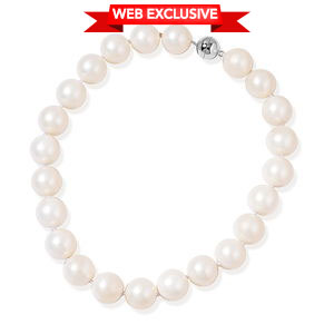 White Shell Pearl (18 mm) Sterling Silver Necklace (18 in)