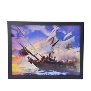3D Sailboat Printed Framed Picture (17x13 in)