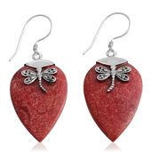 Bali Legacy Collection Sponge Coral Sterling Silver Earrings TGW 7.00 cts.