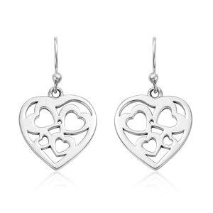 Sterling Silver Heart Earrings (3.9 g)