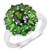 Russian Diopside Sterling Silver Ring (Size 10.0) TGW 4.65 cts.