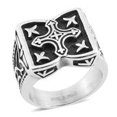 Black Oxidized Stainless Steel Men's Ring (Size 10.0)