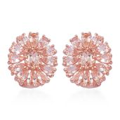 Marropino Morganite 14K RG Over Sterling Silver Omega Clip Earrings TGW 5.40 cts.