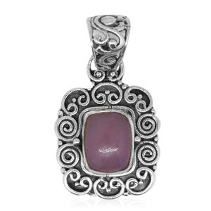 Bali Legacy Collection Peruvian Pink Opal Sterling Silver Pendant without Chain TGW 1.60 cts.