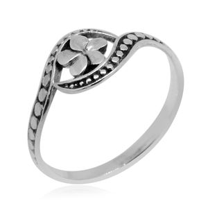 Bali Legacy Collection Sterling Silver Floral Ring (Size 8.0) (2.9 g)