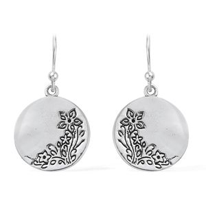 Artisan Crafted Sterling Silver Floral Earrings (4.05 g)