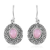 Peruvian Pink Opal Sterling Silver Earrings TGW 2.04 cts.