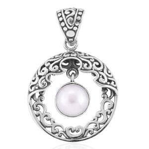 Bali Legacy Collection Freshwater Pearl Sterling Silver Pendant without Chain