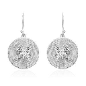 Artisan Crafted Sterling Silver Butterfly Earrings (5.9 g)