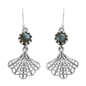 Artisan Crafted Malagasy Labradorite Sterling Silver Earrings TGW 2.35 cts.