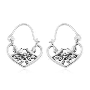 Artisan Crafted Sterling Silver Love Birds Earrings