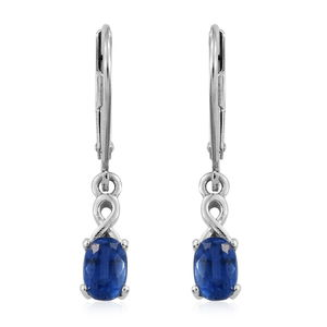 Himalayan Kyanite Platinum Over Sterling Silver Earrings TGW 1.30 cts.