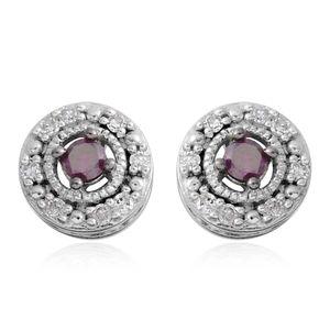Purple Diamond (IR), Diamond Sterling Silver Earrings TDiaWt 0.25 cts, TGW 0.25 cts.