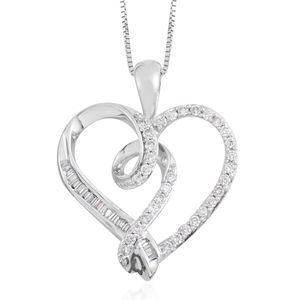 14K WG Diamond Pendant With Chain (18 in) TDiaWt 0.33 cts, TGW 0.33 cts.