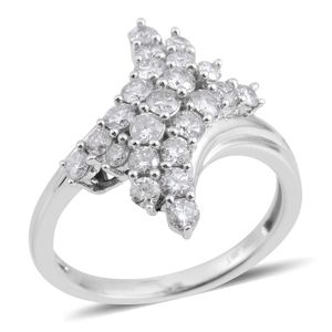 10K WG Diamond (H I1) Ring (Size 7.0) TDiaWt 1.00 cts, TGW 1.00 cts.