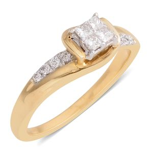 10K YG Diamond (H I1) Ring (Size 7.0) TDiaWt 0.33 cts, TGW 0.33 cts.