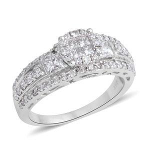 14K WG Diamond (H I1) Ring (Size 7.0) TDiaWt 1.25 cts, TGW 1.25 cts.