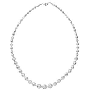 Sterling Silver Beaded Necklace (18 in, 30 g)