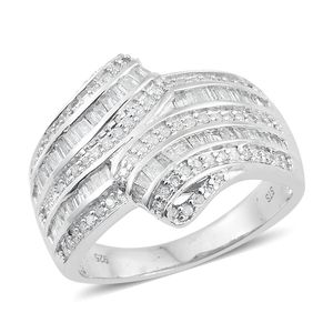 Diamond Sterling Silver Ring (Size 9.0) TDiaWt 1.00 cts, TGW 1.00 cts.