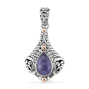 Bali Legacy Collection Tanzanite 14K YG Over and Sterling Silver Pendant without Chain TGW 3.38 cts.