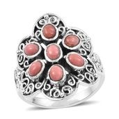Artisan Crafted Oregon Peach Opal Sterling Silver Ring (Size 6.0) TGW 1.19 cts.