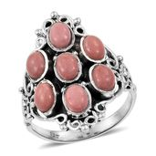 Oregon Peach Opal Sterling Silver Ring (Size 9.0) TGW 2.75 cts.
