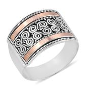 Bali Legacy Collection 14K RG Over Sterling Silver Ring (Size 7.0)