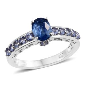 Himalayan Kyanite, Tanzanite Platinum Over Sterling Silver Ring (Size 5.0) TGW 2.40 cts.