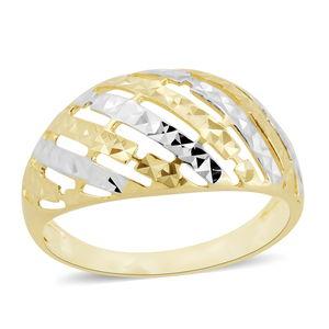 Bali Legacy Collection 10K WYG Pierced Diamond Cut Ring (Size 7.0)