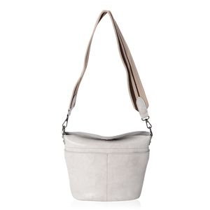 Stone Genuine Leather Crossbody Bag with Removeable Shoulder Strap (10x4x10 in)