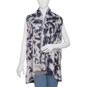 Charcoal Knit Tie & Dye Shrug (31x20 in, 100% Viscose)
