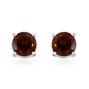 Santa Ana Madeira Citrine Sterling Silver Stud Earrings TGW 0.90 cts.