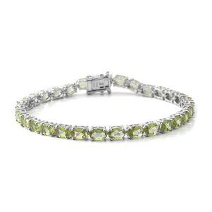 Hebei Peridot Sterling Silver Bracelet (8.00 In) TGW 16.17 cts.