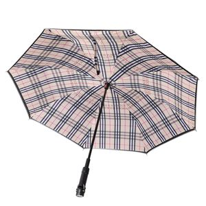TLV Black and Plaid Inverted Umbrella with LED Flash Handle (3xAAA Batteries Not Included)