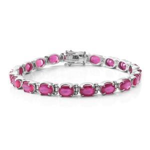 Niassa Ruby Sterling Silver Tennis Bracelet (7.25 In) TGW 20.05 cts.