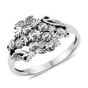 Sterling Silver Floral Bouquet Ring (Size 7.0)