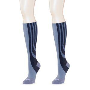 SANKOM Grey Compression Knee High Socks (Ladies 8-10)