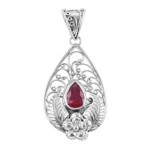 Bali Legacy Collection Niassa Ruby Sterling Silver Pendant without Chain TGW 1.56 cts.