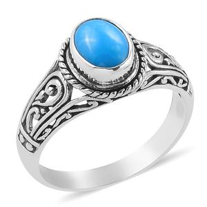 Bali Legacy Collection Arizona Sleeping Beauty Turquoise Sterling Silver Ring (Size 8.0) TGW 1.54 cts.