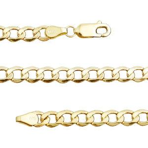 14K YG Cuban Chain (26 in) (5 mm)