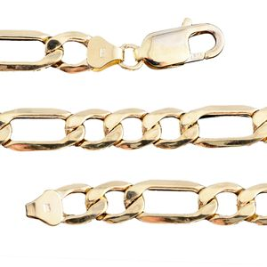 14K YG Figaro Chain (24 in) (7.7 mm)