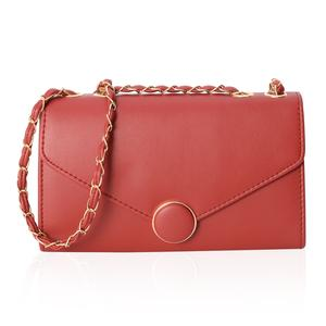 Classy Red Crossbody Bag (10.1x3.3x6.1 in) with Magnetic Closure