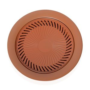 Innovative Living- Non-stick Copper Stove Top Grill Set (Grill Plate and Dip Pan)