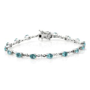 Customer Appreciation Day Madagascar Paraiba Apatite Platinum Over Sterling Silver Bracelet (8.00 In) TGW 4.35 cts.