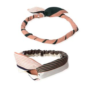 Rust 100% Polyester Headband and Magnetic Clasp Necklace (18 in)