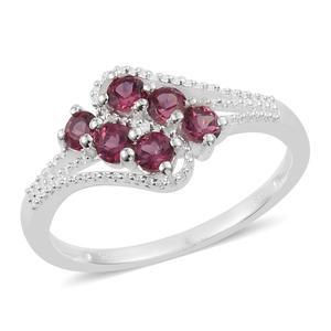 Orissa Rose Garnet Sterling Silver Ring (Size 7.0) TGW 0.90 cts.