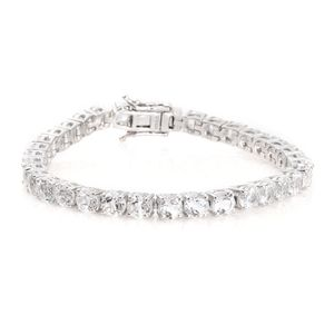 White Topaz Platinum Over Sterling Silver Bracelet (7.25 In) TGW 22.50 cts.